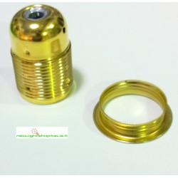 Portalampada metallo filettato E27 colore dorato