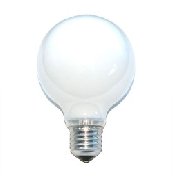 Lampadina incandescenza globo opale 60W G80