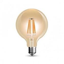 Globo Led a filamento  3W vetro ambra