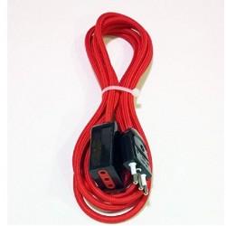 Prolunga elettrica 2 mt, cavo rivestito in tessuto colorato